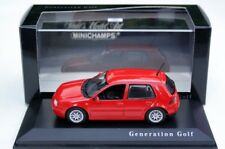 VW GOLF 4 IV GTI GT TDI TORNADO RED BBS ALLOYS 1:43 MINICHAMPS (DEALER MODEL)