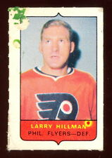 1969-70 OPC O-PEE-CHEE MINI 4 in1 LARRY HILLMAN FLYERS VG-EX CARD STAMP Sticker