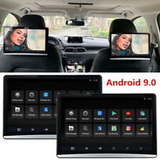 "2x 11.6"" 4K Touch Screen Android 9.0 Car SUV Headrest Monitor Multimedia Player"