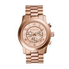 Michael Kors Rose Gold Chronograph Runway Oversized Watch MK8096 RRP £259