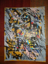 Chicago Abst. Expressionist RONALD AHLSTROM collage 19 x 24