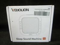Veholion Sleep Sound Machine S3 - White Noise/Rain/Ocean/Heartbeat - NEW