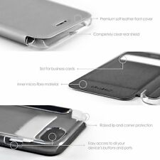 Apple iphone 7 Case Cover Wallet Clear Back and Tempered Glass Screen Protector