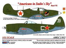 AML Models Decals 1/32 AMERICANS IN STALIN'S SKY P-47 & P-39 Part 6