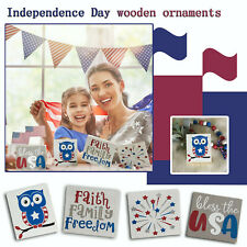 American Independence Day Decorations Independence Day Mini Wood Signs Ornaments