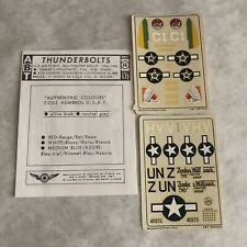 ABT Decal Sheets No 46 1:72 Scale Thunderbolts USAF Zemke Wolfpack Stickers
