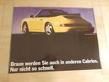 Original Porsche Poster  Cabrio 911