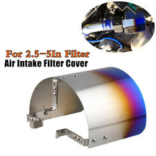 304 Stainless Steel Blue Universal Car Cold Air Intake Filter Heat Shield Cover