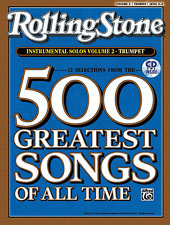 ROLLING STONE-500 GREATEST SONGS OF ALL TIME-TRUMPET VOLUME 2 MUSIC BOOK/CD-NEW!