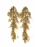 Vintage Sold Brass Bow Design Picture Door Mirror Topper Wall Decor India