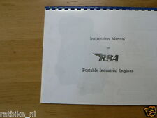 B0002 BSA---INSTRUCTION MANUAL AND SPARES LIST FOR---BSA PORTABLE INDUSTRIAL ENG
