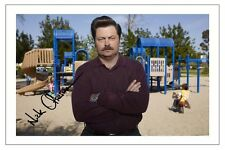 NICK OFFERMAN PARKS AND RECREATION AUTOGRAPH SIGNED PHOTO PRINT RON SWANSON