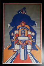 VINTAGE 1968 SEYMOUR CHWAST MOTORCYCLE FINE POSTER POP ART GRAPHIC DESIGN DECOR