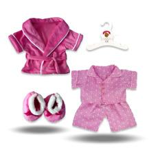 Teddy Bear Clothes fits Build a Bear Pink PJ's Pyjamas Candy Robe & Slippers