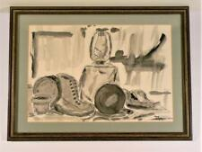Coleman Vintage (1978) Ink Wash Still Life Painting