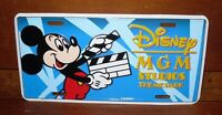 """Disney MGM Studios Theme Park Metal License Plate """"Retired Name"""" Collectible"""