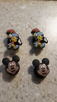 Lot of 4 Disney Characters charms  for Croc shoes Craft, Scrapbook or cake decor
