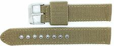 New Condor Nylon Canvas Watch Strap Band 18mm Khaki with Free Spring Bars - 112G