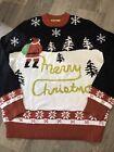 Tipsy Elves L Large Ugly Tacky Christmas Sweater Santa Yellow Snow
