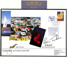 MS1643 1988 GB CONCORDE ICELAND Cover SIGNED *Trubshaw* Very Rare ONLY 10 EXIST