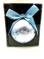 Kurt S. Adler Glass Boy Baby's First 1st Christmas Hanging Ornament Blue New