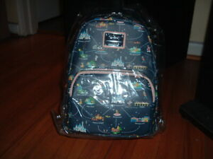 LOUNGEFLY DISNEY 65TH ANNIVERSARY BACKPACK~ WITH TAGS~ 2 IN 1 CONVERTIBLE~