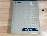1986 HYUNDAI EXCEL Service Repair Shop Manual FACTORY OEM BOOK 86 HYUNDAI