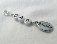 Remember MUM,DAD Clip-on charm - choice of 2 words