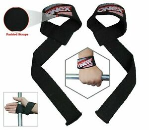 Onex Unisex Weight Lifting Bar Straps Deadlift Gym Wraps Hand Wrist Support