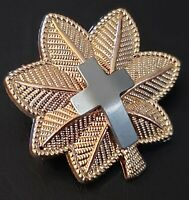 CHAPLAIN CROSS Major Rank Officer Insignia Military Badge FA Hat Pin US Army