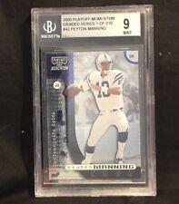 Peyton Manning Indianapolis Colts 2000 Playoff Momentum Beckett Graded 9 Card 42