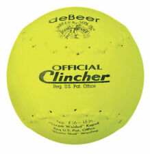 deBeer F16y Yellow Official Clincher 16 Inch Softball - Dozen