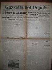 GAZZETTA DEL POPOLO  13/6/1938 Mondiali di Calcio  Italia 3  Francia 1