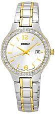 Conjunto De Cristal SEIKO SUR783P1 señoras reloj de dos tonos, 2 años de garantía RRP £ 230.00