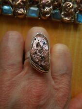 Sterling Silver Copper Nugget Ring Size P