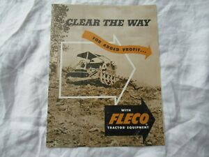 Fleco tractor equipment brochure for Caterpillar tractors