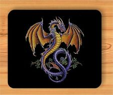 DRAGON YELLOW WINGS MOUSE PAD -vbg0Z