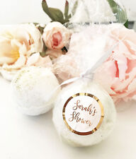 25 Personalized Silver Rose Gold Foil Bath Bomb Bridal Shower Wedding Favor