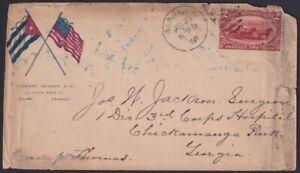 1898-H-9 ANTILLES  1898  INDEPENDENCE WAR PATRIOTIC COVER SOLDIER LETTER