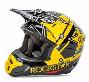 FLY RACING KINETIC PRO OFFROAD MOTORCYCLE MX ATV HELMET ROCKSTAR SIZE LARGE NEW