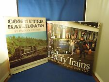2 Vintage Train Books - Luxury Trains from Orient Express & Commuter Railroads