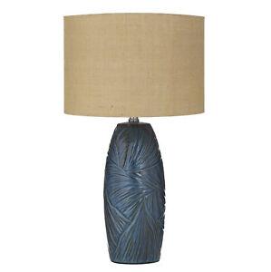 Amalfi Cove Table Lamp Blue/Natural 35x35x62cm