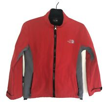 The North Face Summit Series Schoeller Red Grey Zip Jacket Small
