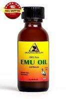 EMU OIL AUSTRALIAN ORGANIC TRIPLE REFINED 100% PURE 1 OZ in GLASS BOTTLE