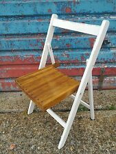 vintage wooden deck chairs