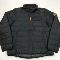 Gerry Men's Jacket Quilted Bearwood Workwear Full Zip Black Medium