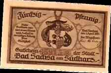 1921 Germany BAD SACHSA 50  Notgeld / Banknote UNC