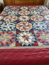 "VINTAGE  Star Of Bethlehem Cheater QUILT 83"" x 86"" Queen Sz #559"