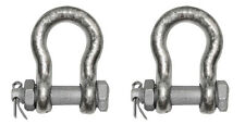"Two (2x) 5/8"" Safety Bolt Anchor Shackle WLL 3 1/4 ton"