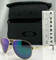 Oakley CAVEAT Sunglasses OO4054-15 Polished Gold Frame W/ Jade Iridium Lens NEW